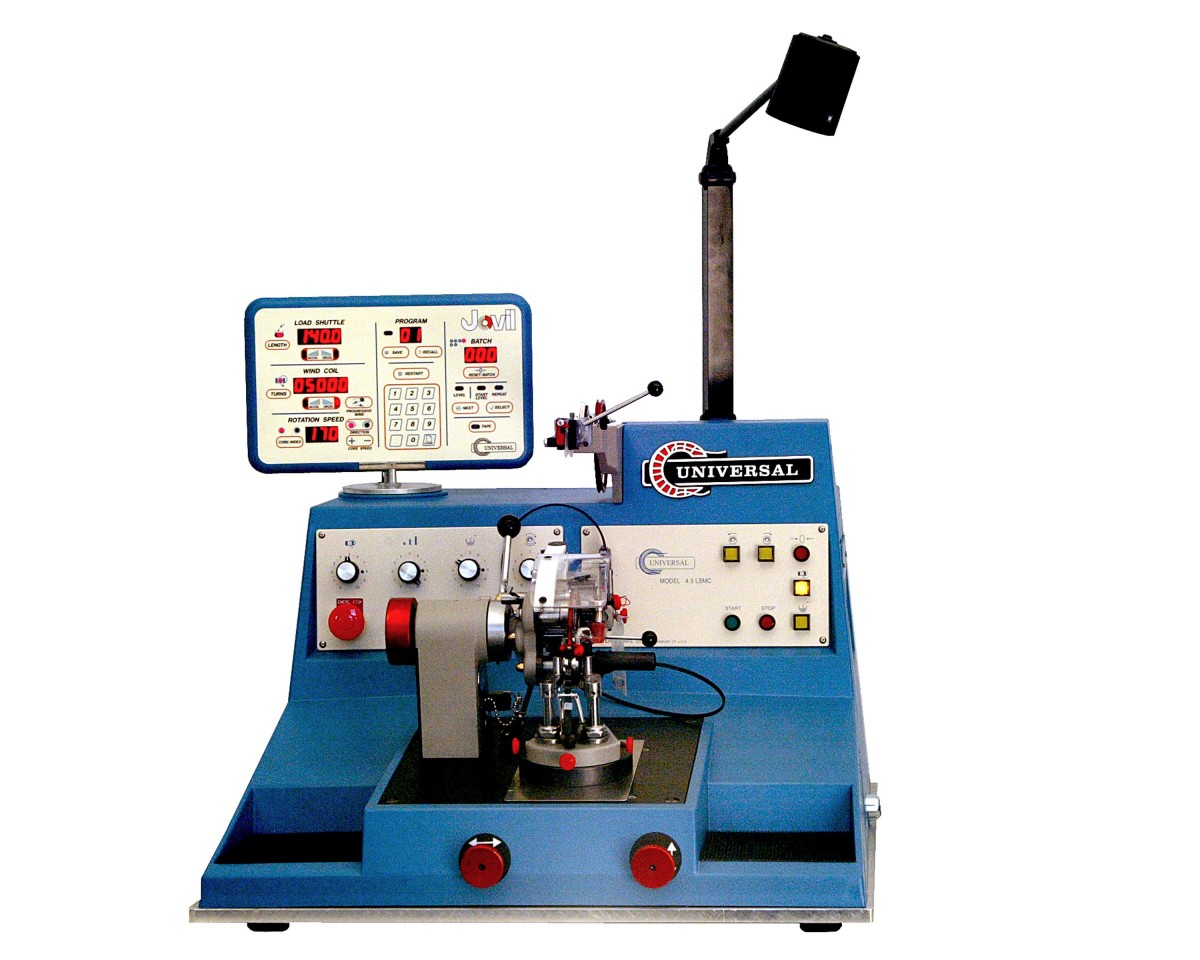 Microprocessor Controlled Toroidal Winding Machine With Rs